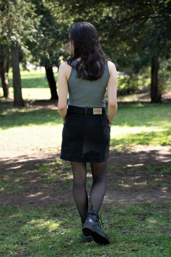 Photo jupe droite à poches