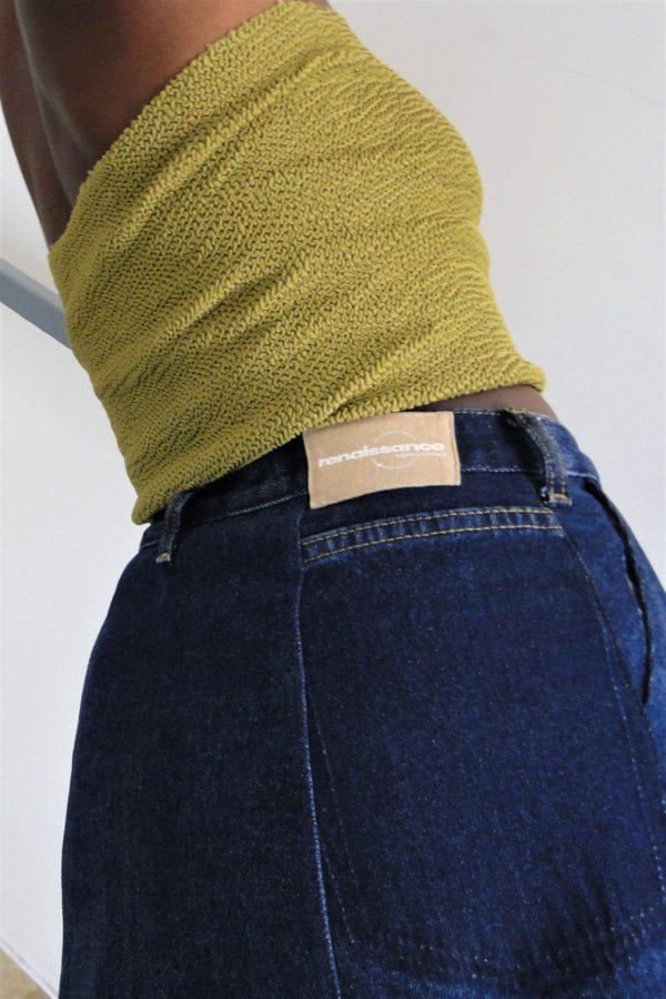 Photo jupe trapèze à poches